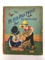 """The Peter-Pan Twins Are Glad to Help"" Rhoda Chase, Whitman Pub Co, 1928, HC, GD"