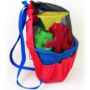 Portable Beach Toys/snacks Bag Foldable Mesh Swimming Bag for Outdoor/Travel