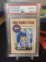 2006 Nolan Ryan New York Mets Topps 1968 rookie stars PSA 10 On Card Auto