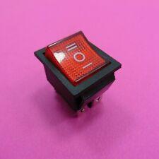 6 Pin Snap Rocker Switch 20A 125V, 16A 250V Mount ON-OFF-ON Button DPDT