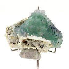 Fluorite + Pyrite. 3225.0 ct. Wuyi fluorite ore field, Zhejiang, Chine