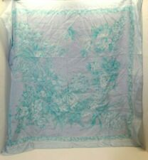 "Vintage Triangle Brand Floral Hand Rolled Silk Fashion Scarf Shanghai 29"" X 29"""