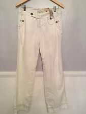 NWT American Eagle Outfitters Straight Legs Low Rise White Jean Sz 4