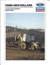 Construction Equipment Brochure Ford New Holland Buyers Guide 1989 E4260