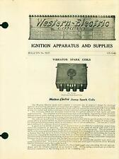 Bulletin Western Electric Ignition Apparatus Spark Plugs Signal Horns Auto 1913