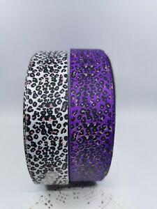 38mm Leopard Print Grosgrain Ribbon 2 colours Craft Hair Clip