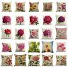 Floral Cotton Linen Waist Throw Pillow Case Sofa Home Decorative Cushion Cover
