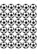 30X FOOTBALL PRE-CUT edible WAFER CARD cup cake toppers birthday party cake