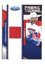 P.K. Subban 2011-12 Panini Certified, Fabric of the Game, 276/399 !!