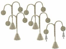 "LOT OF 5 MODERN BURLAP EARRING DISPLAY STAND EARRING TREE 5 3/4""H EARRING STAND"