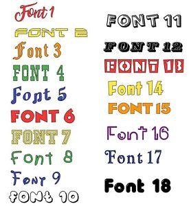 2 Words - Custom personalised vinyl decal word/name Various colours
