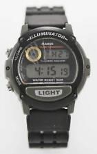 Casio Men's Digital Black Rubber Day Date Alarm Chrono WR Quartz Battery Watch