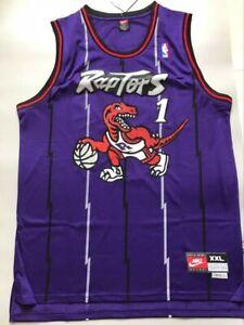 Men's Tracy McGrady Toronto Raptors Throwback Swingman Jersey Purple Size S-XXL