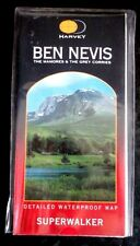 Ben Nevis, The Mamores & the Grey Corries Superwalker by Harvey folded sheet map