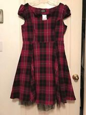 Hot Topic H&R of London Punk Plaid Dress Size 14 New With Tags Halloween Sexy