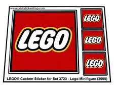 Lego® Custom Pre-Cut Sticker for Sculptures set 3723 - Lego Minifigure (2000)