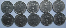 Malaysia 5 sen 1994 coin 10 pcs