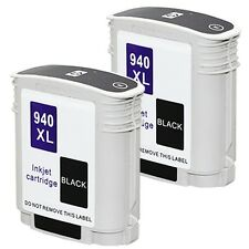 2PKs HP 940 XL BLACK Ink Cartridge For Officejet Pro A910a 8500A e-All-in-One