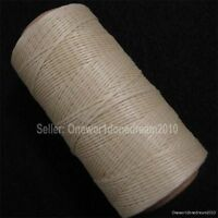 Ginger Yellow Leather Craft DIY AWL Diamond Chisel Sewing Waxed Thread 1mm 284y