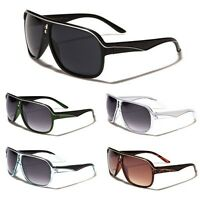 Khan Two Tone Flat Top Aviator's Men's Retro 80's Fashion Vintage Sunglasses New