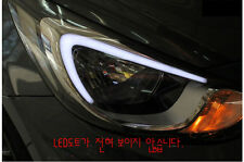 Audi Style Eye Line Head Lamp Lights DRL For 11~2015+ Hyundai Accent Solaris