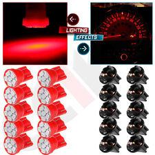 10Pcs T10 168 Red 6SMD LED Light Bulb Instrument Cluster Dash w/ PC194 Sockets