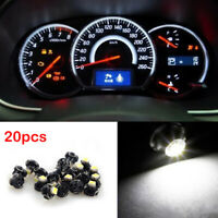 20PCS White T4.2 1SMD LED Bulb Wedge Gauge Cluster Dash Light Instrument Panel