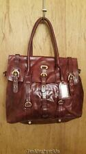 BADGLEY MISCHKA wine colored leather handbag purse satchel