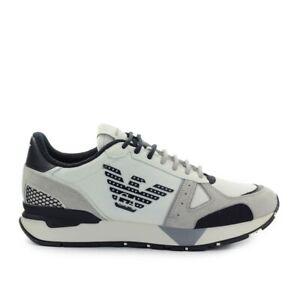 Emporio Armani Cream Black Beige Sneaker  Man