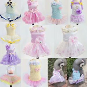 Various Cute Pet Dog Cat Party Dress Summer Dress Lace Skirt Princess Clothes