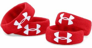 """Under Armour Women's Ua 1"""" Performance Wristband 4-pack, Red"""