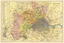 Greater London Parliamentary Bacon 1934 Map High Quality Goods Constituencies Boroughs # Electors