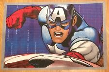 Marvel Comics Super Hero   Avengers Captain America Material /Fabric Remnant .