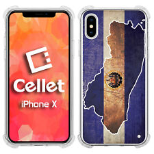 Vintage El Salvador County Flag on its Map for iPhone X Case