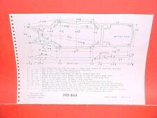 1970 BUICK RIVIERA GS GRAN SPORT ESTATE STATION WAGON FRAME DIMENSION CHART