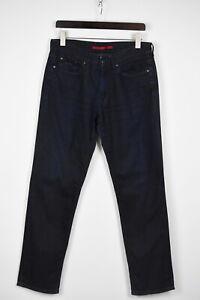 Cerruti Herren W33 L31 Dehnbar Dunkelblau Regular Fit Jeans 36583-GS