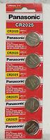**FRESHLY NEW** 5x Panasonic CR2025 Lithium Battery 3V Coin Cell Exp 2025