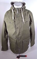 2015 NWT MENS 686 TECH GOODS OVER UNDER MILITARY JACKET $120 L army pockets logo