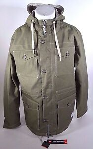 NWT MENS 686 TECH GOODS OVER UNDER MILITARY JACKET $120 L army pockets logo