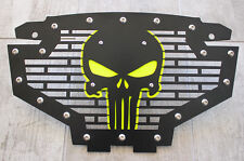 Custom Part Steel PUNISHER Grille Emblem Lime Squeeze Accent Polaris RZR 800/900