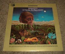 Stravinsky Le Sacre Du Printemps Bernstein~RARE Quadraphonic~Original Inner~FAST