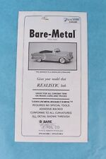 VINTAGE BARE METAL ULTRA BRIGHT CHROME SHEET FOR MASKING MODEL CARS AND TRUCKS