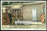 WWI Pershing  Lafayette, We Are Here c50 Y/O Trade Ad Card