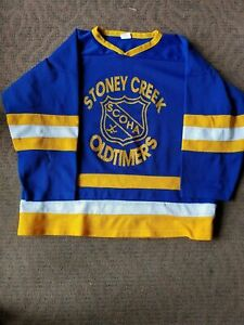 STONEY CREEK OLDTIMERS Canada Hockey Jersey #55 Athletic's International XL (JSY
