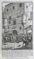 Abbaye de Saint Germain Paris Juin 1789 Rare Gravure Révolution Française