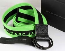 NEW BY MARC JACOBS COTTON STRIPE BELT ONE SZ NWT GREEN
