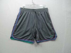 Nike Mens Dri Fit Gray Double Mesh Shorts Size MEDIUM Ex Cond!