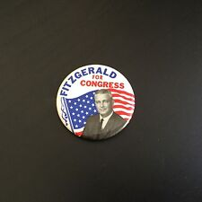 Vintage Fitzgerald For Congress Political Pinback Button! Neat! Free Ship!