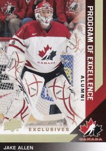 13-14 UD TEAM CANADA EXCLUSIVES GOLD ERROR CARD NOT NUMBERED JAKE ALLEN NO:219 a