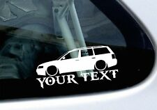 Custom Text / Name- LOW VW Passat B5 estate wagon, lowered car sticker , decal